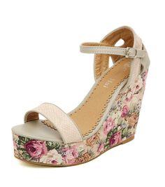 Chaussures femme à talons compensés