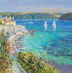 Bright Summer Sailing, St Mawes by Ted Dyer