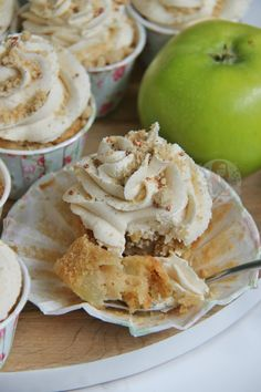 Light, Soft, Cinnamon Sponges with Apple, Golden Delicious Crumble, Cinnamon Buttercream, and even more Crumble. Apple Crumble Cupcakes, perfect for Autumn. WELCOME TO SEPTEMBER! Even though Autumn doesn't technically start till late September, I still say its Autumn now. Therefore, APPLE CRUMBLE CUPCAKES are now a thing on my blog. I posted the Cake version of this last year, and its always been a hit – Apple Crumble Cake. The cake was a beautiful marriage of soft, light sponge, with…