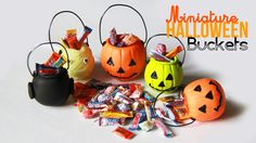 Halloween Bucket Charms - Miniature Candy with Polymer Clay tutorial video Toni Ellison
