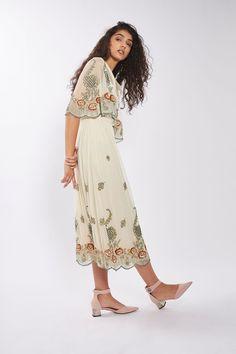 Embellished Cape Dress - Dresses - Clothing - Topshop USA