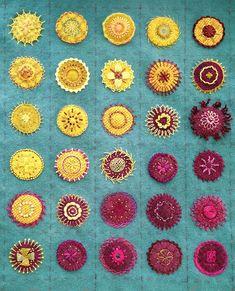 Embroidered Mandalas Sampler 2 - creative stitching - Sue Spargo inspired.