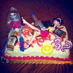 Forget Drunk Barbie Birthday Cake. Try Drunk Monsters. Monster High dolls are a great idea for an adult Halloween party.
