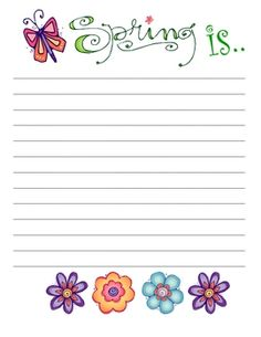Cute Easter & Spring Writing Paper