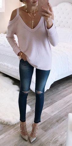lilac cold-shoulder top