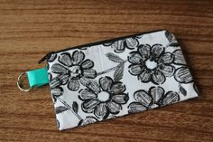 Coin Purse  Small Flat Zippered Pouch with by AmandaJeanCreations, $6.00