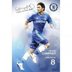 Frank Lampard Chelsea FC Poster Officially Licensed Product new Blues EPL - Marvelous Marvin Murphy's World Soccer Shop, Barclay Premier League, English Premier League, Chelsea Fc, Club, Soccer Cleats, Football Players, Baseball Cards, Sport