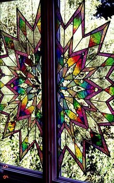 Love the colors and shape. Stained glass.