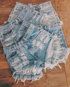"CHECKER"" Vintage Levi high-waisted denim shorts blue distressed frayed"