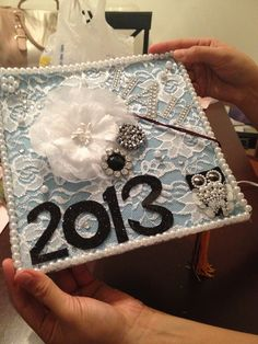 Grad cap, but I'd probably only do the lace and pearls and maybe add my monogram