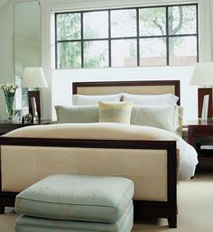 bed infront of large window | ... top down - bottom up shades