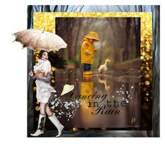 """Dancing in the rain with my duck"" by glitterlady4 ❤ liked on Polyvore featuring art"
