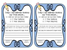 {FREEBIE!} attach this note to unfinished work and send home. Great communication tool with parents!