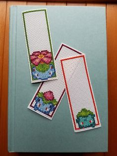 Cross Stitch Bookmarks - Pokemon - Bulbasaur Evolutions by PupsnPixels on Etsy