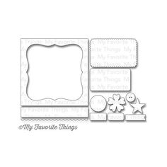 Oozak.com | My Favorite Things | MFT528 | MY FAVORITE THINGS Die-Namics - Metal Craft Die, Blueprints #19. (Idea for shaker window shape...)