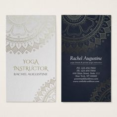 Yoga Meditation Instructor Chic White Gold Mandala Business Card. { Visit link to see if you can save with coupon codes or promotions!}Yoga Meditation Instructor Business Card Templates - Elegant Faux Gold Foil Mandala Floral with White Paper Background. Artwork by ReadyCardCard on #zazzle ... #businesscards #yoga #mandala #chic #modern