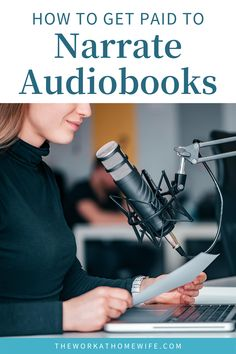 How to get paid to narrate audiobooks. Check out these legit jobs and get paid today! | The Work at Home Wife Work From Home Moms, Make Money From Home, Home Blogs, Popular Articles, Legitimate Work From Home, Time Management Tips, Virtual Assistant, Extra Money, Business Tips