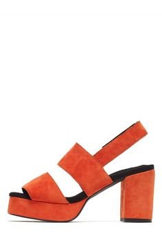 Jeffrey Campbell Shoes BRAD New Arrivals in Neon Red Suede