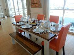 6ft Wood Farmhouse Dining Kitchen Table (Dark Walnut Stain/Ivory) James http://www.amazon.com/dp/B00DSRUVVA/ref=cm_sw_r_pi_dp_9-Agub139BRSQ