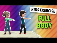 Exercise With Kids: Full Body 25 Min Kids Gym, Yoga For Kids, Exercise For Kids, Kids Workout, Stretches For Kids, Fun Workouts, At Home Workouts, Movement Activities, Physical Activities