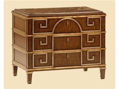 Shop for Marge Carson Borghese Bedside Chest, BH14, and other Bedroom Chests and Dressers at Boyles Furniture in Mocksville, NC. Named in honor of the famed Roman Villa designed in 1605 for Cardinal Scipione Borghese, The Borghese Collection by Marge Carson incorporates elements of ancient Roman architecture to create gracious furnishings for today's more modestly sized urban and suburban palazzos.