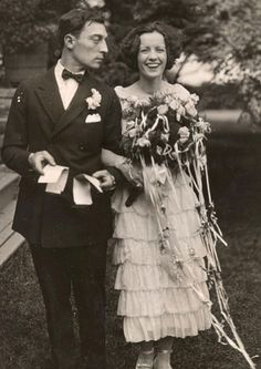 """lesanneeselegantes: """"Buster Keaton and Natalie Talmadge wedding """""""