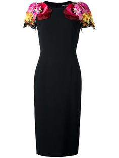 Shop Dolce & Gabbana floral shoulders dress. 2950 euro c'factor choice personal shopper follow me