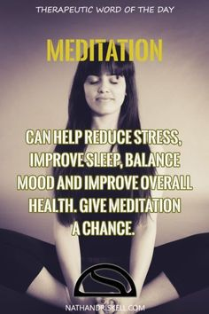 Therapeutic Word of the Day: Meditation | Nathan Driskell: Asperger's & Internet Addiction Specialist