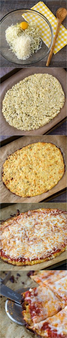 Cauliflower Pizza Crust - low carb and guilt free - great recipe for weight watchers