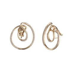 Spiral into the after party in these next level swirl clip earrings featuring high shine crystals and glamorous gold tone plating. Clip On Earrings, Bali, Origami, Hoop, Diamond Earrings, Gold Rings, Design Inspiration, Rose Gold, Future