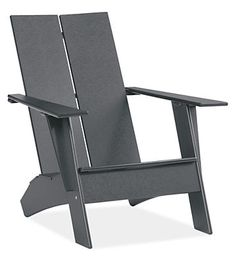 The Emmet outdoor lounge chair is amodern take on a classicsymbol of rustic American relaxation. Our exclusive design, Emmet is made in Duluth, Minnesota, from 100 percent recycled high-density plastic and features a stainless steel bottle opener under the arm for effortless outdoor entertaining. Eco-friendly, durable, comfortable and easy to care for, Emmet is an outdoor classic.