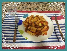 Cocinando con Lidia: Macarrones boloñesa y calabacín.