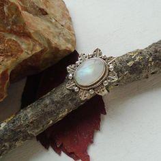 Mondstein, Ring, Ø 18,75 mm, 925 Sterling Silber in Uhren & Schmuck, Echtschmuck, Ringe | eBay!