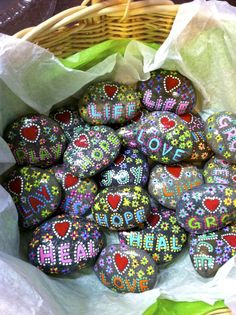 painted rocks---love the words