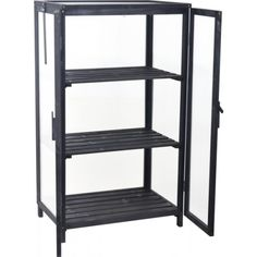Drivhus for balkong 63x45x110 cm svart