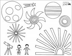 Free printable summer coloring pages: Fireworks by Made by Joel