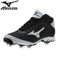 huge discount df34c 30e7f Batters Choice Sporting Goods. Mizuno 9-Spike Vapor Elite 7 - Mid - Black  White