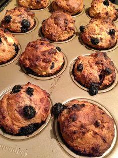 Jillian Michael's Banana Blueberry Muffins