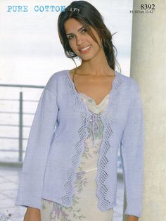 Cardigan and top Patons PBN03260 | KNITTING cardigan 4ply ...