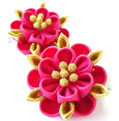 Hey, I found this really awesome Etsy listing at https://www.etsy.com/listing/113887876/kanzashi-fabric-flowers-set-of-2-hair