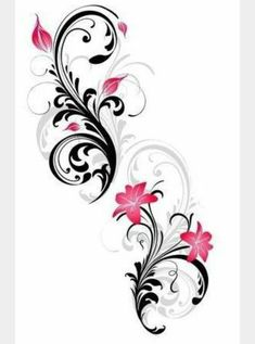 Epilogue: Rose's Rib Tattoo Some inspiration for your tatoo. Rose Rib Tattoos, Arm Tattoos, Flower Tattoos, Body Art Tattoos, Tribal Tattoos, Tattoo Hip, Orchid Tattoo, Sleeve Tattoos, Swirl Tattoo