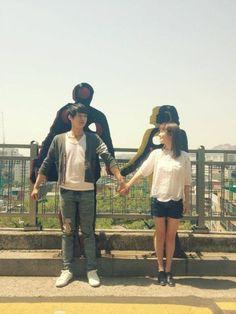 JYJ's Yoochun and Han Ji Min snap a couple photo for 'Rooftop Prince' #allkpop #kpop #JYJ