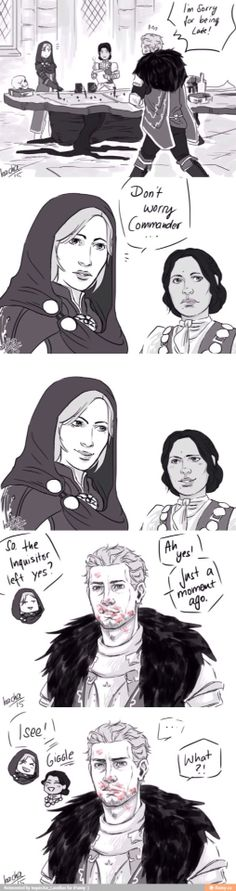 """""""Inquisitor's Goodbye"""" Now taking bets for how long it takes for him to glance in a mirror and notice!"""