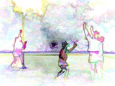 Korfbal Rondom, Art Journal Inspiration, Images, Sport, Painting, Deporte, Painting Art, Sports, Paintings