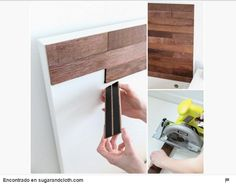 """DIY Ikea hack Stikwood headboard """" let me introduce you to the glory that is Sti. - Ikea DIY - The best IKEA hacks all in one place Malm Hack, Ikea Bed Hack, Ikea Hack Bedroom, Cama Ikea, Diy Casa, Diy Headboards, Ikea Headboard, Headboard Ideas, Headboard Makeover"""