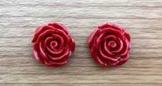 A personal favourite from my Etsy shop https://www.etsy.com/au/listing/258304186/rose-carved-flower-earrings-red-coral