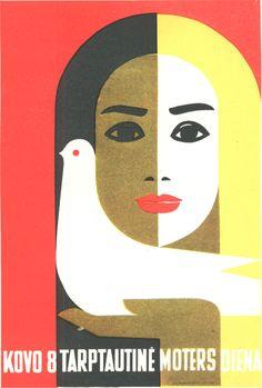 By Juozas Galkus, 1 9 6 8, International Women's Day: 8 March, Russia/Soviet Union.