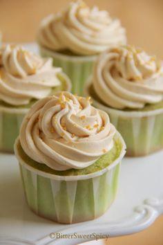 Pandan Cupcakes with Gula Melaka Swiss Meringue Buttercream Frosting @ BiiterSweetSpicy