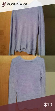 Super soft beautiful sweater Very soft v neck style sweater made from nylon and spandex. Color is like a periwinkle (blueish/lavender). Super cozy for those cold winter days! knit fit Sweaters V-Necks