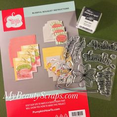 BeautyScraps: Stampin' Up! My Paper Pumpkin Blissful Bouquet October 2015 Kit Reveal and First Alternate Card Idea